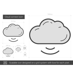 Cloud connect line icon vector