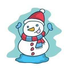 Cute snowman collection christmas theme vector