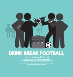 Drink Break Football Symbol vector image vector image