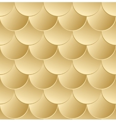 Fish scale golden seamless pattern vector image