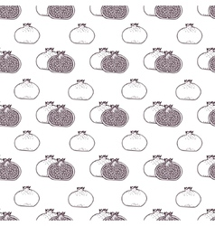 Garnet fruits seamless pattern vector