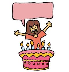 girl birthday vector image vector image