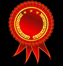 golden award ribbon vector image vector image