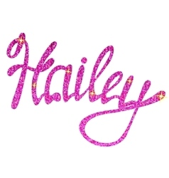 Hailey name lettering tinsels vector