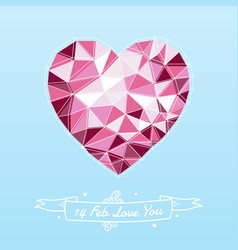 heart shape for valentines day vector image vector image