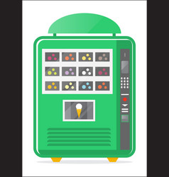 Ice cream vending machine icon vector