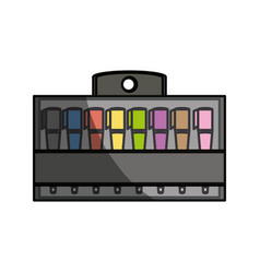 Markers in box product vector