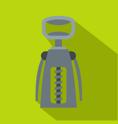 Metal corkscrew icon flat style vector