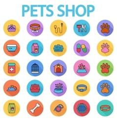 Pets shop icons vector image
