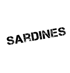 Sardines rubber stamp vector