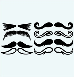 Set mustache vector image