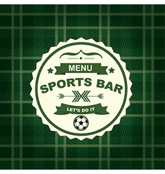 Sports bar menu template design vector