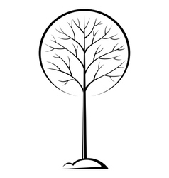 Tree Black Pictogram vector image vector image