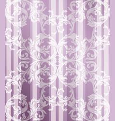 vintage baroque pattern background vector image vector image