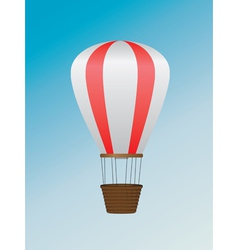 White red air balloon vector image vector image
