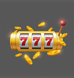 winner gambling with slot machine vector image vector image