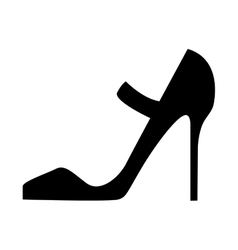 Woman black heel vector