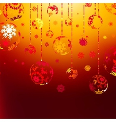 Elegant Christmas with gold balls EPS 8 vector image