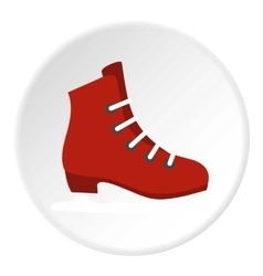 Skates icon flat style vector