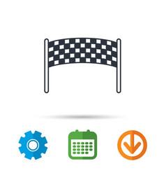 Finishing checkpoint icon marathon banner sign vector