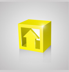 box with arrow yellow vector image