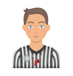 Basketball refereebasketball single icon in vector