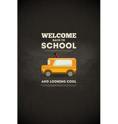School poster bus vector