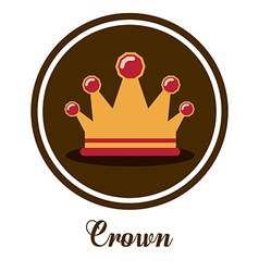 Crown design vector