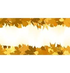 golden autumn border vector image