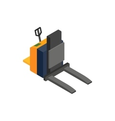 Forklift loader icon isometric 3d style vector