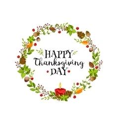 Happy thanksgiving wreath vector
