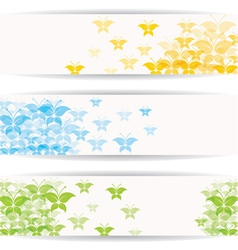 Abstract colorful butterfly design for website vector image vector image