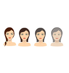 aging process young girl and older woman vector image vector image