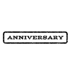 anniversary watermark stamp vector image vector image