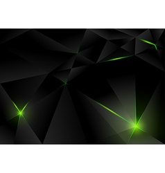 Black Lightning Crystals vector image vector image