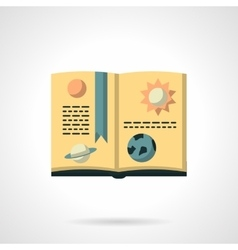 Book on astronomy flat color icon vector image vector image