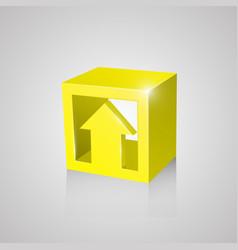 Box with arrow yellow vector