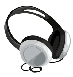 Classic headphone on white background vector