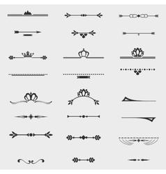 Collection of twelve vintage frames for design vector image vector image