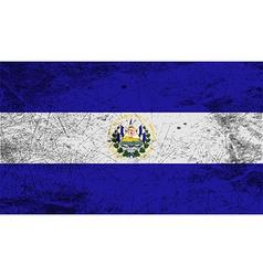 Flag of el salvador with old texture vector