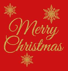 Gold merry christmas vector