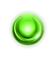 light round center green vector image vector image