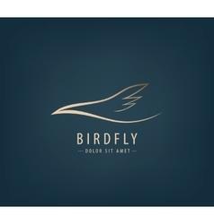 line bird logo Abstract vector image vector image