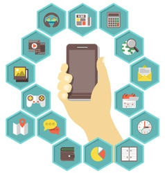 Mobile Apps Development vector image vector image
