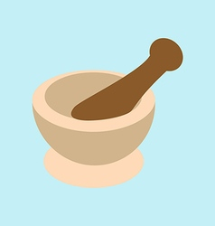 Mortar and pestle for spices vector