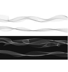 Set of black twist curved lines abstract wave vector