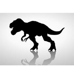 Silhouette of a tyrannosaurus rex vector