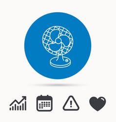 ventilator icon fan or propeller sign vector image