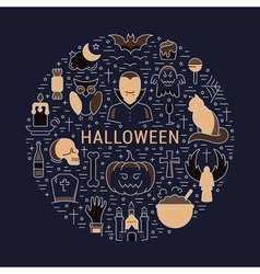 Web banner or emblem halloween vector