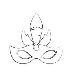 Women carnival mask vector